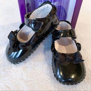 Pediped Natasha Black Patent Shoes 18-24 Months